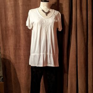 White Stag, Long Cotton Flattering Embroidered LG